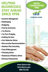 Business Services Poster template