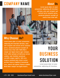 Business Solution Flyer Template Design