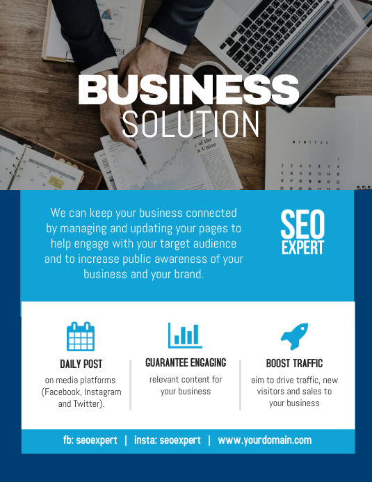business solution modern flyer template postermywall