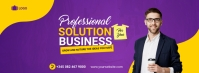 Business solutions Couverture Facebook template