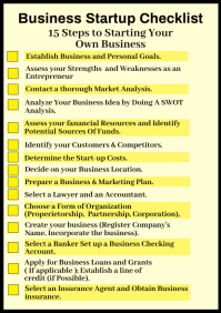 Business Startup Checklist Premium Template A4