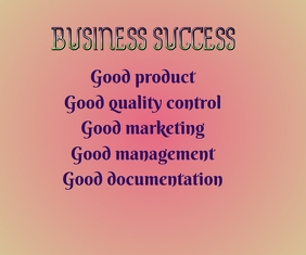 Business Success Large Rectangle template