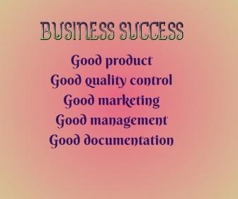 Business Success Malaking Rektangle template