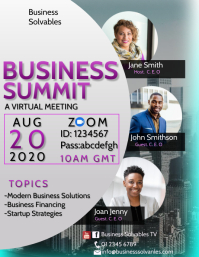 Business Summit Flyer Template