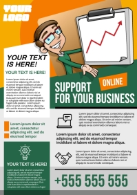 BUSINESS SUPPORT POSTER A4 template