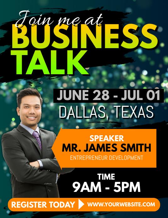 Business Talk Flyer