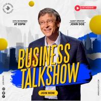 Business Talkshow Persegi (1:1) template