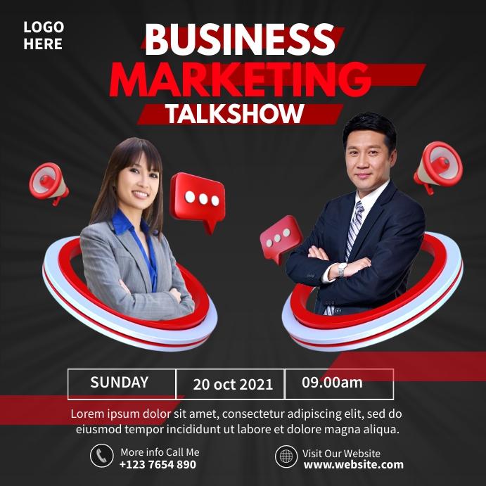 Business Talkshow Wpis na Instagrama template