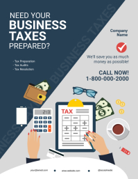 Business Taxes Flyer Template