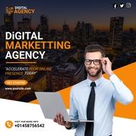 business template design Publicação no Instagram