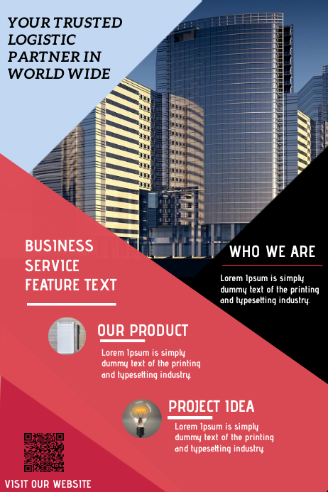BUSINESS TEMPLATE FLYER Transparent 4 stopy × 6 stóp