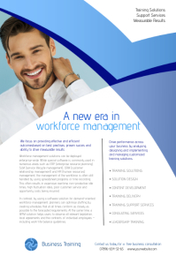 Business Training Leaflet