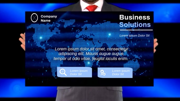 BUSINESS VIDEO AD Tampilan Digital (16:9) template