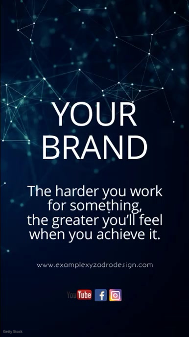 Business Video Marketing Template Network Ad História do Instagram