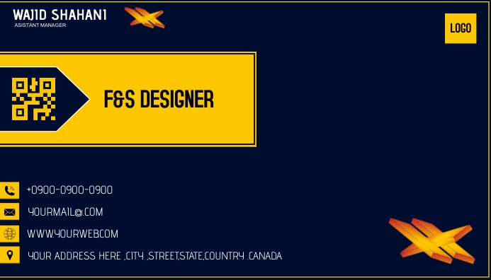 Business Visiting Card template