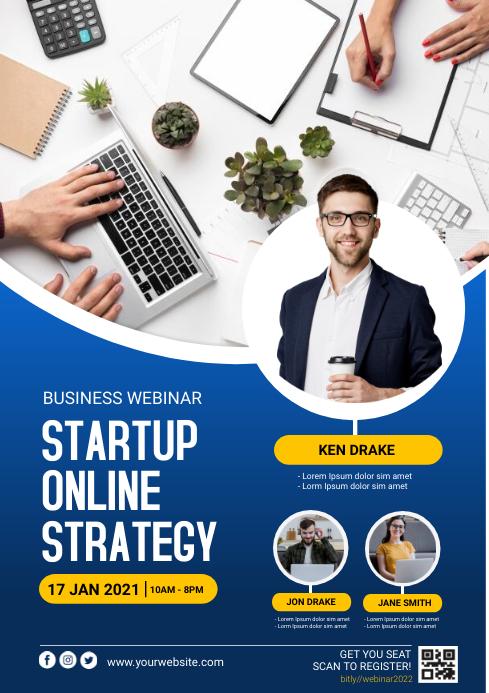 business webinar A4 template