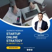 business webinar Instagram Post template