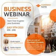 business webinar instagram post video backgro template