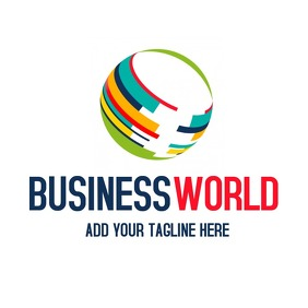 Business world logo template