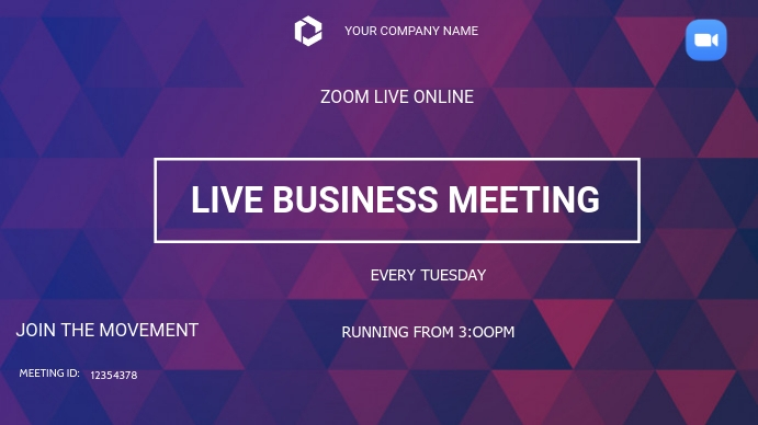 Business zoom meetings Digitale display (16:9) template