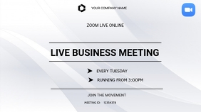 Business zoom meetings Digitale Vertoning (16:9) template