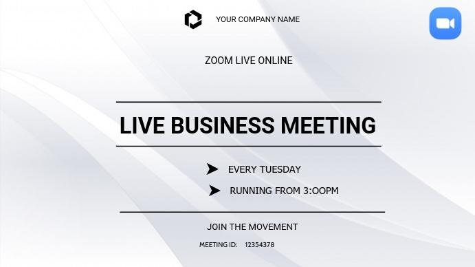 Business zoom meetings Digitale display (16:9) template
