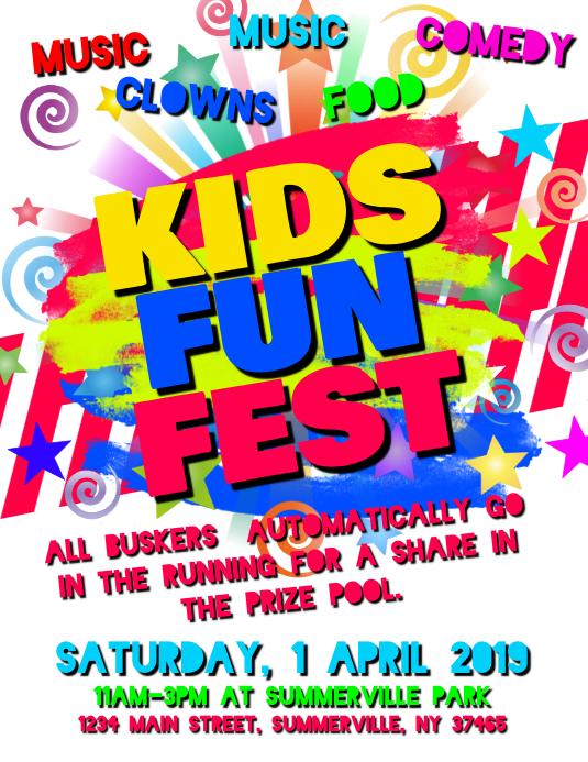 Kids Fun Fest Flyer