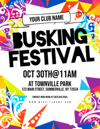 Busking Festival Flyer