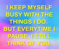 BUSY AND THINK QUOTE TEMPLATE Large Rectangle