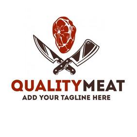 Butcher logo Logótipo template