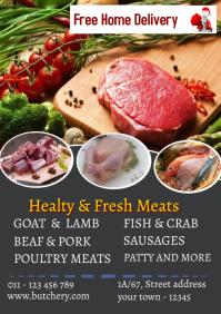 butchery flyers 3 A4 template