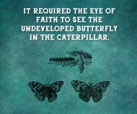 BUTTERFLY AND CATERPILLAR QUOTE TEMPLATE Large Rectangle