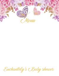 Butterfly Babyshower Flyer (US Letter) template