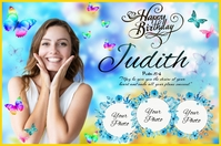Butterfly Birthday Ishidi elingu 4' × 6' template