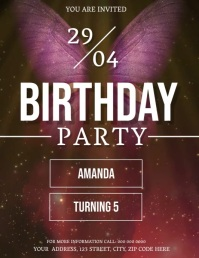 BUTTERFLY BIRTHDAY Flyer Template