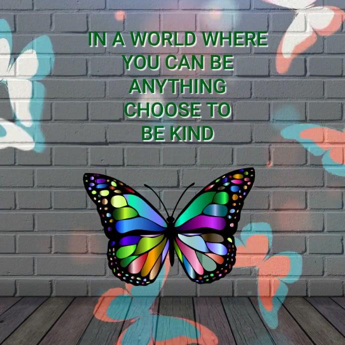 Butterfly Instagram Post template