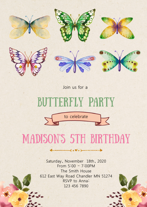 butterfly floral birthday party