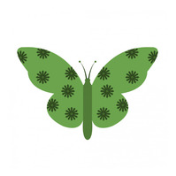 Butterfly icon Logo template