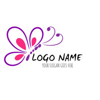 butterfly logo concept template design