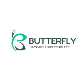 butterfly logo template design