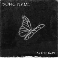 butterfly mixtape cover art design template