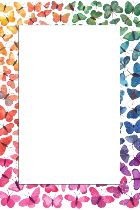 Butterfly Party Prop Frame