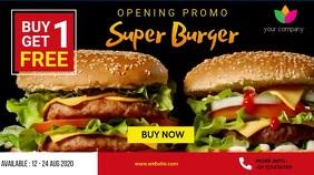 Buy 1 Get 1 Free Advertising 数字显示屏 (16:9) template