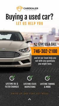 Buy a used car Instagram story Instagram-verhaal template