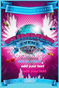 Flyer Summer Club Band Music Concert Block DJ Party Event