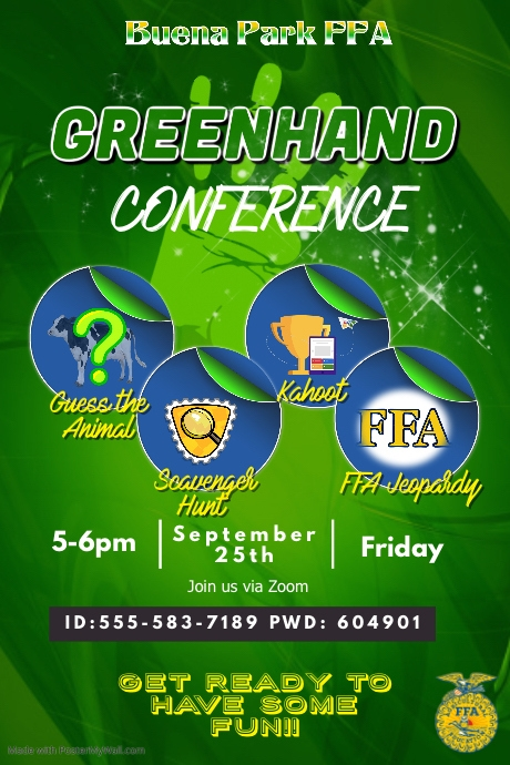 Greenhand Conference Poster template