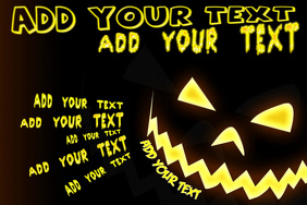 Halloween Haunted Pumpkin Jack Lantern Night Flyer Invite Poster