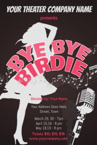 Bye Bye Birdie Theater Poster Template