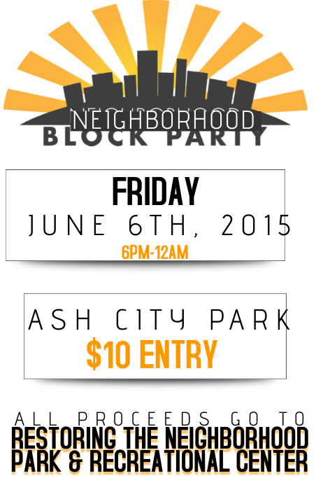 Neighborhood Block Party Community Fundraiser Charity Donate Environment Park Recreational Event AD