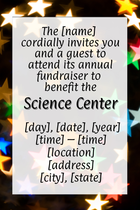 Christmas Fundraiser Flyer.Space Science Star Christmas Fundraiser Flyer Template